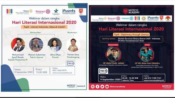 Rotary Club Surabaya Persada akan Gelar Webinar Hari Literasi Internasional