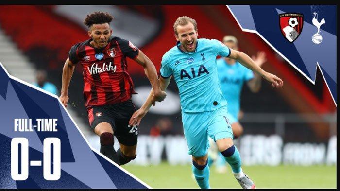 Hasil Pertandingan Liga Inggris Tottenham Hotspur vs Bournemouth: Skor 0-0