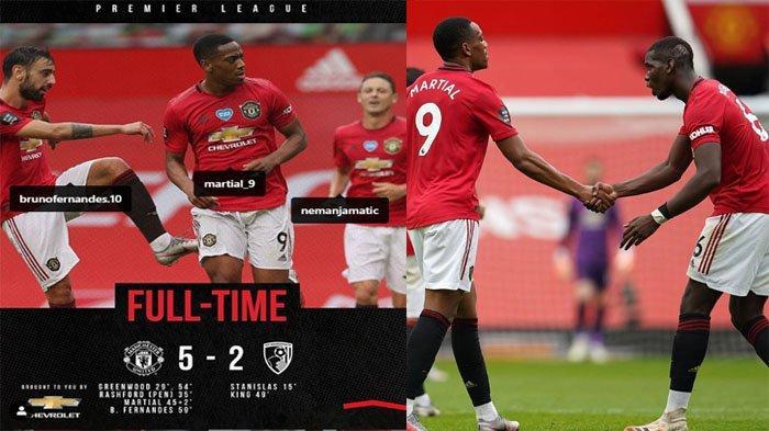Hasil Pertandingan Manchester United vs Bournemouth: Skor 5-2
