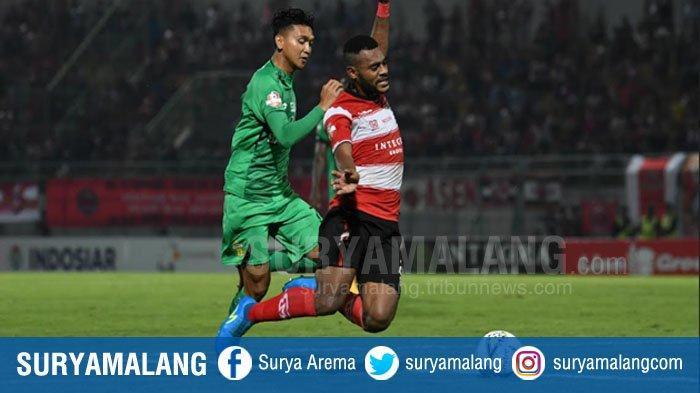 Hasil Skor Akhir Pertandingan Madura United vs Bhayangkara FC Adalah 1-2, Tuan Rumah Kalah
