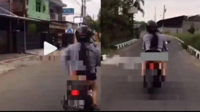 Heboh Konten Video Wanita Buka Rok & Pamer Celana Dalam Saat Naik Motor, Polisi Ungkap Identitasnya