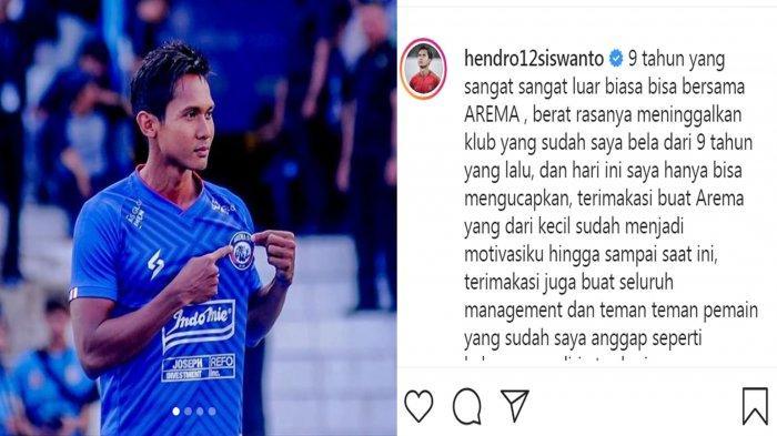 BREAKING NEWS : Kapten Arema FC, Hendro Siswanto Pamit Undur Diri dari Tim Singo Edan