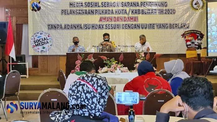 Polres Blitar Kota Ajak Warganet Cegah Munculnya Berita Hoaks Jelang Pilwali Blitar 2020