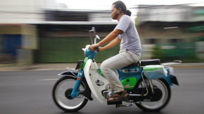 Restorasi Motor Klasik Honda C70 Jadi Motor Listrik Karya Dosen UM, Kuat Nanjak Malang - Bromo