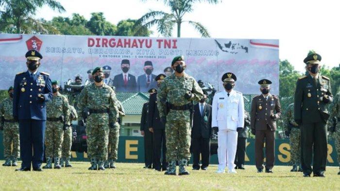 Divif 2 Kostrad Gelar Upacara Peringatan HUT TNI ke-76 Secara Virtual