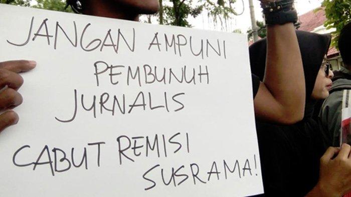 Jurnalis Malang Protes Jokowi Ampuni Pembunuh Jurnalis Bali, Anak Agung Gde Prabangsa