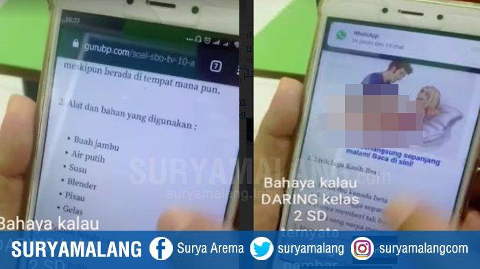 Iklan Situs Dewasa Bergambar Vulgar Muncul di Web Pembelajaran Daring Siswa SD, Viral di Medsos