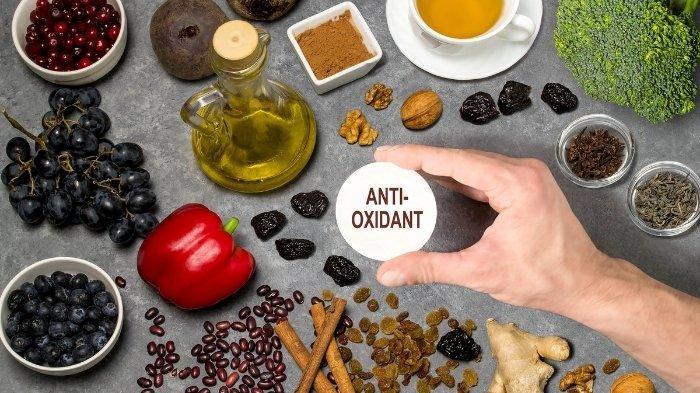Ilustrasi bahan yang mengandung anti-oksidan