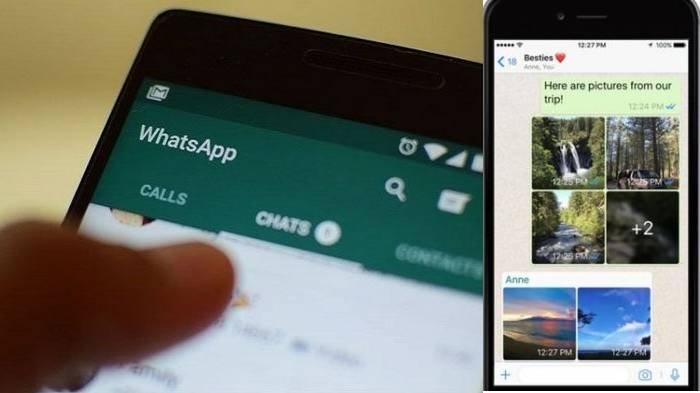 Ilustrasi chat WhatsApp berkirim gambar dan video