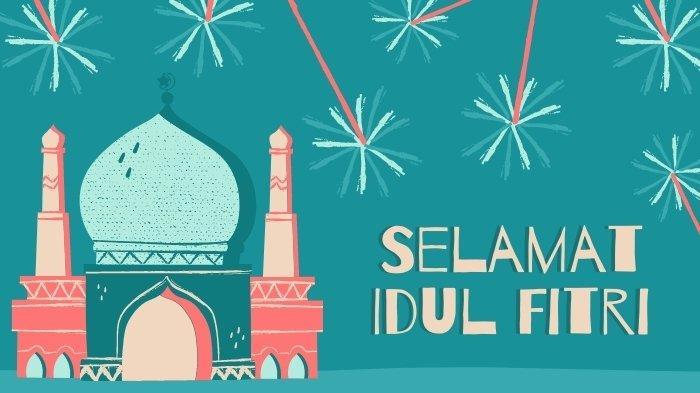 Ilustrasi gambar kumpulan pantun ucapan Idul Fitri lebaran 2021