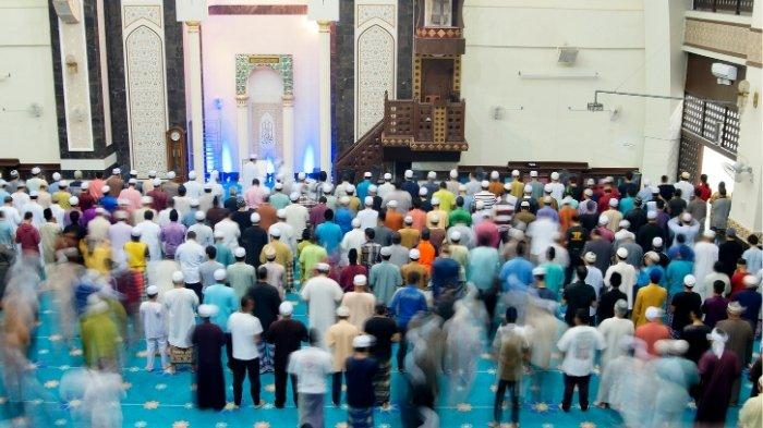 Ilustrasi gambar sholat tarawih,