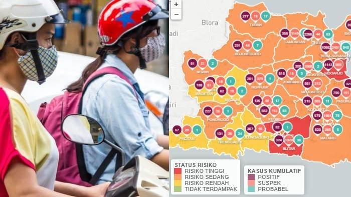 Update Zona Merah di Jawa Timur Sabtu 24 Agustus 2020: Surabaya Merah Kediri Kuning Mojokerto Oranye