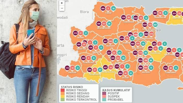 Update Zona Merah Covid-19 di Jawa Timur Minggu 18 Oktober: Blitar, Nganjuk Oranye, Sampang Kuning