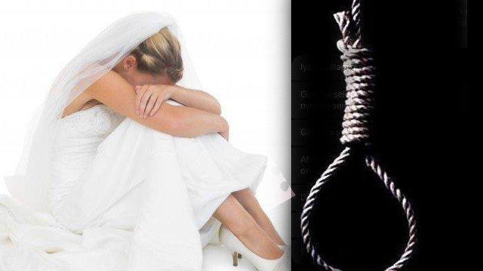 Ilustrasi - Mempelai Wanita temukan pasangannya gantung diri (Freepik, TribunPontianak )
