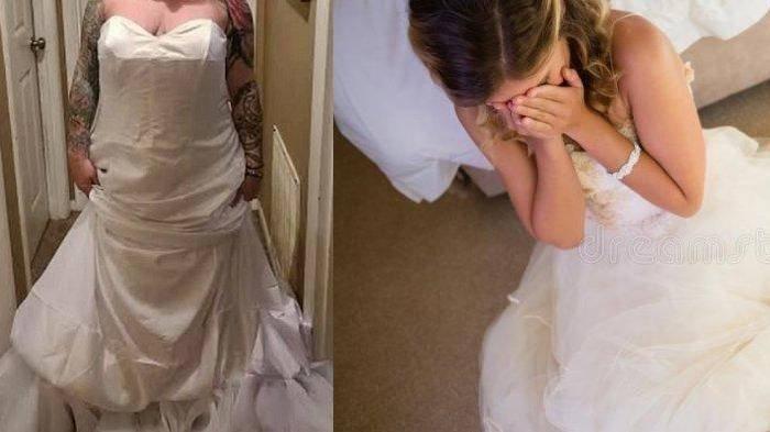 Pengantin Wanita Malu Berat Setelah Komplain Gaun Tak Sesuai Gambar, Ternyata Terbalik Memakainya