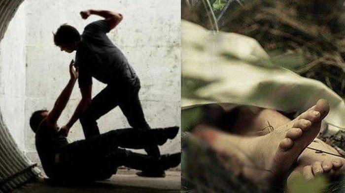 Ilustrasi pertengkaran dan mayat korban pembunuhan