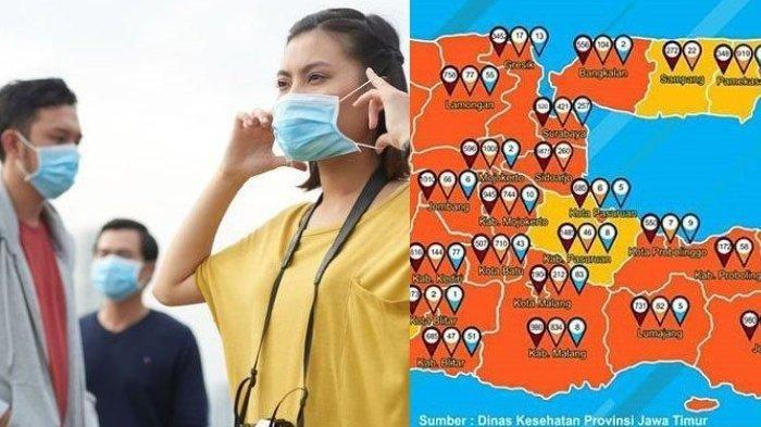 Update Zona Merah Covid-19 di Jawa Timur Jumat 16 Oktober: Tuban, Surabaya Oranye, Malang Kuning