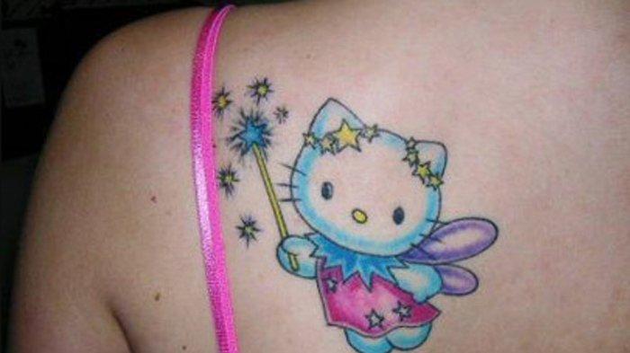 ILUSTRASI - Tato Helly Kitty.