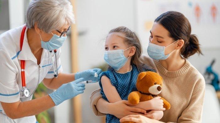 Ilustrasi vaksin Covid-19 pada anak