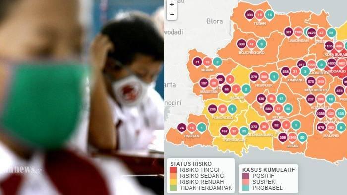 Update Zona Merah di Jawa Timur Senin 24 Agustus: Pamekasan Zona Kuning, Jember, Nganjuk Zona Oranye