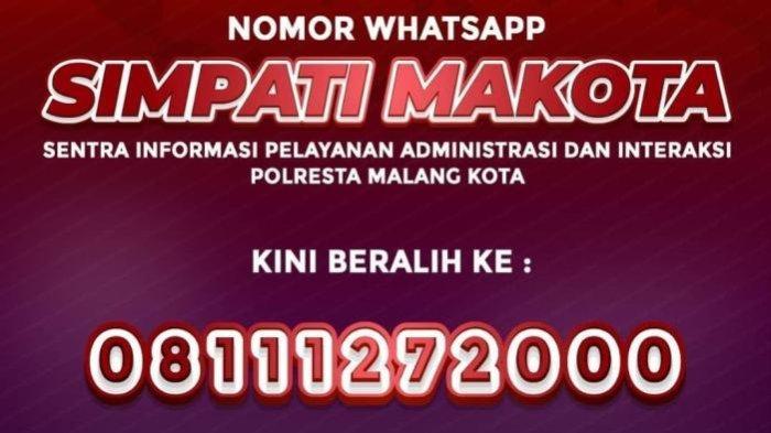 Tingkatkan Pelayanan, Ini Nomor WhatsApp Simpati Makota Polresta Malang Kota yang Baru