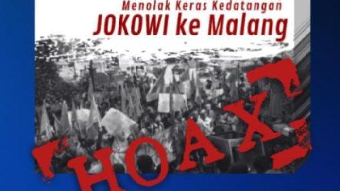 Beredar Informasi Hoaks di Balik Kedatangan Presiden Jokowi di Kabupaten Malang