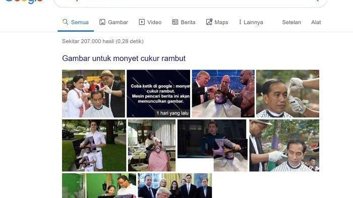 Penyebab Ketik Monyet Cukur Rambut di Google Muncul Jokowi dari ahli, Ternyata Berawal dari Sini