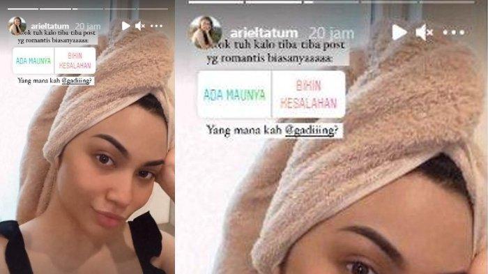 Instagram Stories Gading Marten membalas postingan Gading Marten
