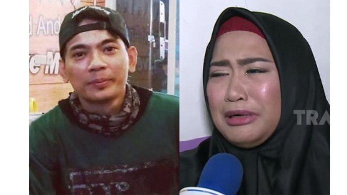 Istri Aris Idol, Rosillia Octo Fany menangis (kanan)
