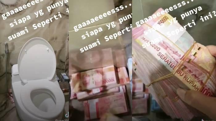 Rahasia Suami Disembunyikan di Kloset Kamar Mandi, Istri Syok Temukan Segepok Uang: Liciknya Suamiku
