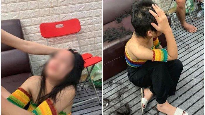 Viral Istri Sah Cukur Rambut Pelakor, Gelap Mata Setelah Lihat Suami dan Selingkuhan Bermesraan