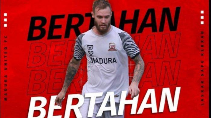 Jelang Piala Menpora 2021, Jacob Papper Resmi Bertahan di Madura United