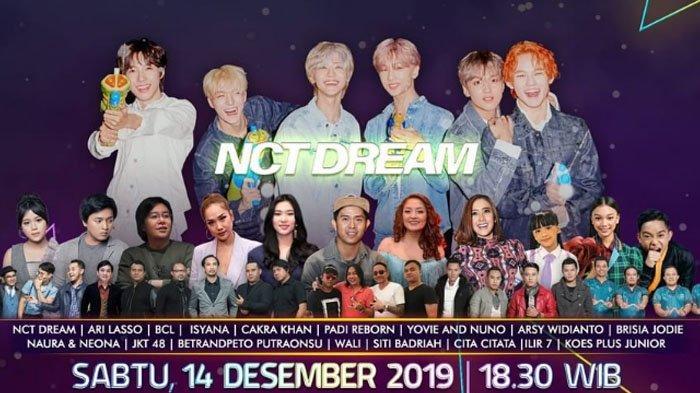 Jadwal Acara SCTV TRANS TV GTV RCTI Indosiar TVONE, Sabtu 14 Desember 2019, Ada Konser NCT Dream