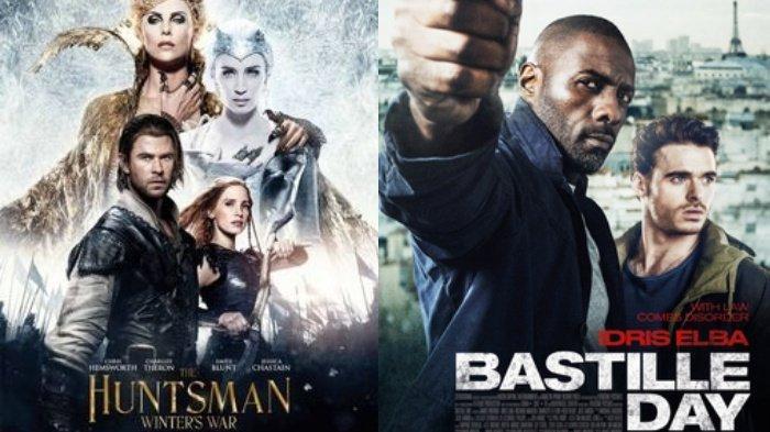 Jadwal Acara TV Minggu 12 Juli 2020, SCTV TRANS RCTI : Ada The Huntsman Winter's War & Bastille Day