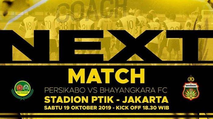 Jadwal Acara SCTV TRANS TV GTV RCTI Indosiar TVONE Sabtu 19 Oktober 2019, PS Tira VS Bhayangkara FC