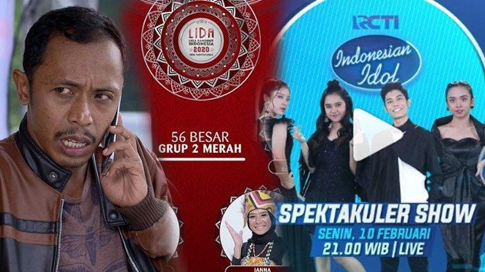 Jadwal Acara SCTV TRANS TV GTV RCTI Indosiar tvOne, Senin 10 Februari 2020, Ada TOP4 Indonesian Idol