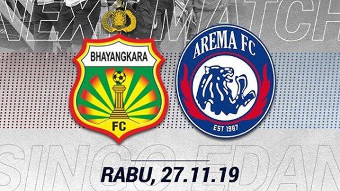 Jadwal Acara SCTV TRANS TV GTV RCTI Indosiar TVONE Rabu 27 November, Bhayangkara vs Arema