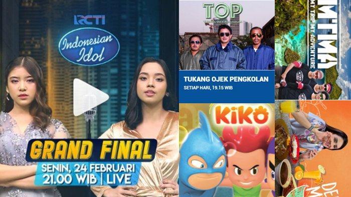 Jadwal Acara SCTV TRANS TV RCTI Indosiar tvOne GTV, Senin 24 Februari 2020, Ada Final Indonesia Idol