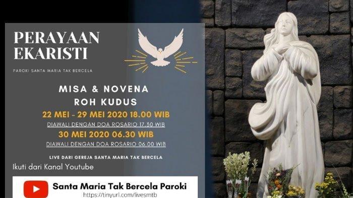 Jadwal Misa Online Minggu 24 Mei 2020 Gereja Katolik Keuskupan Surabaya & Link Streaming via YouTube