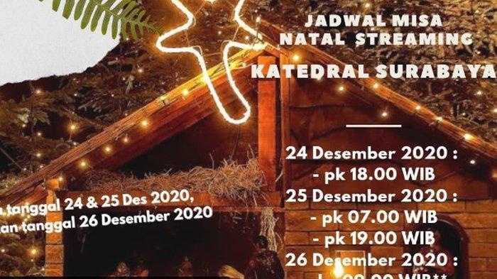 Jadwal Misa Malam Natal 24 Desember 2020 Gereja Keuskupan Surabaya & Link Streaming YouTube