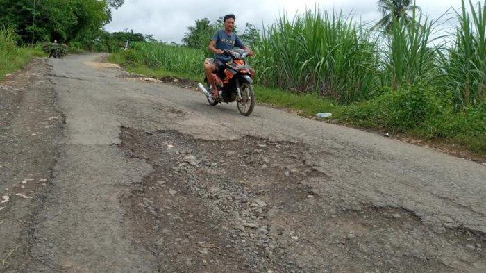 DPUBM Kabupaten Malang Sanggupi Perbaiki Jalan Berlubang Dalam Program 100 Hari Kerja Bupati Malang