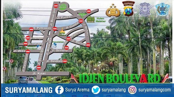 Jalan Besar Ijen Kota Malang Ditutup Mulai Besok Sabtu Jam 6 Pagi, Perhatikan Jadwal Penutupannya
