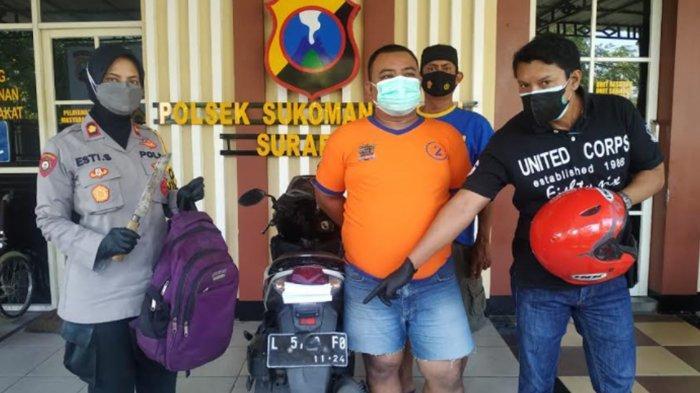 Jambret Kalung Ibu-Ibu di Simo Surabaya Ditangkap, Modusnya Pura-Pura Tanya Alamat dan Jual Koran