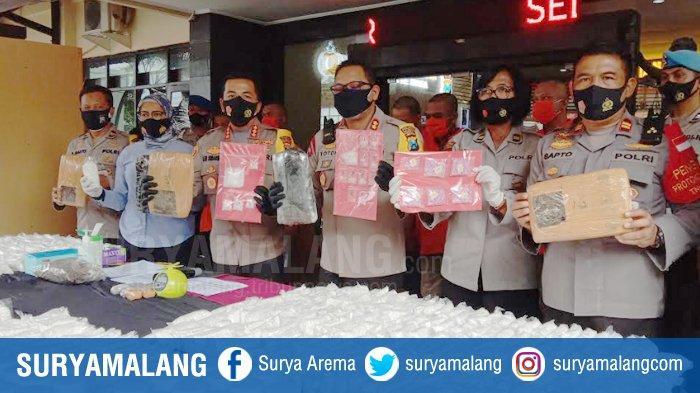 Pasokan Ganja 100 Kg Masuk ke Kota Malang, Polresta Malang Kota Bongkar Jaringan Pengedarnya