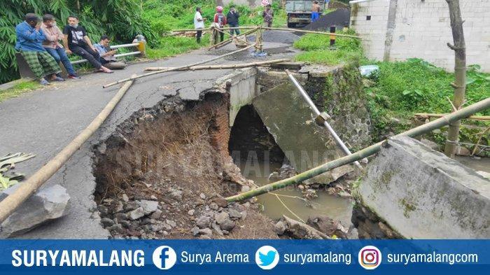 Jembatan Ambrol di Bandulan Langsung Dikerjakan, Target Selesai Dibangun Sebelum HUT Kota Malang
