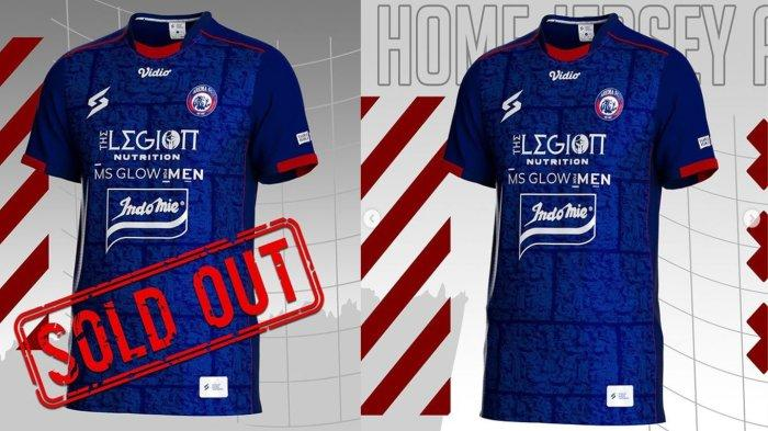 Jersey Home Arema FC Edisi Replika Orisinal Bagi Aremania dengan Harga Rp 225 Ribu Siap Dijual