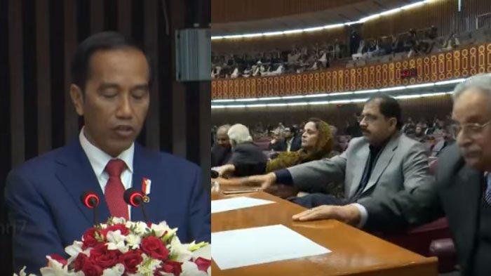 VIDEO : Reaksi Anggota DPR Pakistan Saat Dengar Pidato Jokowi, Sampai Ada yang Pukul-pukul Meja