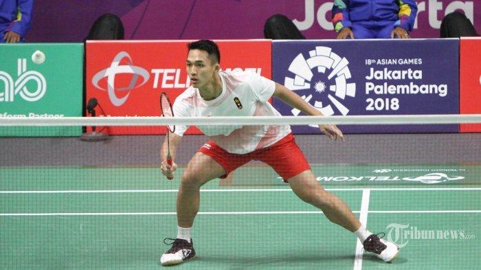 Hasil Akhir Final Tunggal Putra Asian Games 2018 Jonatan Christie vs Chou Tien Chen Hari ini