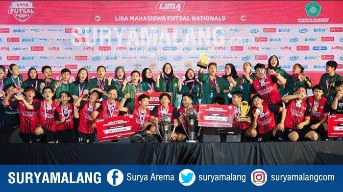 Tim Futsal Perbanas Jakarta & Tim Putri UNJ Juara LIMA Futsal Nationals Musim 7 di UIN Maliki Malang