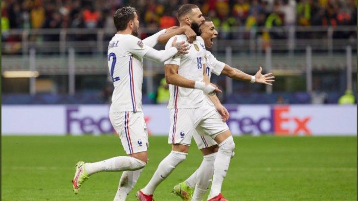 Prancis Kalahkan Spanyol di Final, Resmi Jadi Juara UEFA Nations League2020-2021